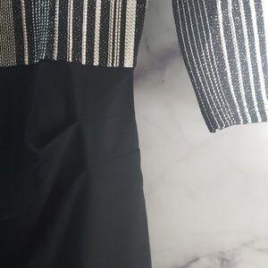 HOMEYEE Dresses - Womens Elegant V-Neck 3/4 Sleeve Slim Dress